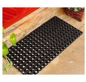 Anti slip Rubber Hollow Mat Black 18x30 Inch