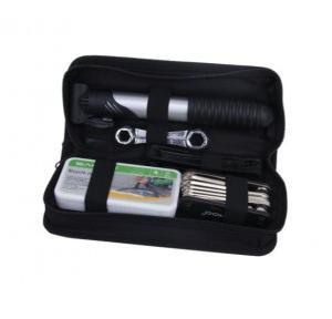 Bike Repair Multi-tool Kit Bag with Mini Pump Maintainence Tool Kit Inflator Double Saddle Canvas Bag