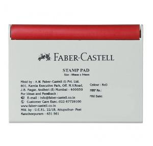 Faber Castell Red Small Stamp Pad, Size: 88 mm x 54 mm