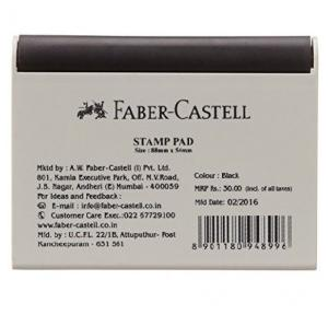 Faber Castell Black Small Stamp Pad, Size: 88 mm x 54 mm