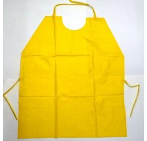 Gripwell Yellow Poly Vinyl Chloride Apron, Size: 24 x 36 inch