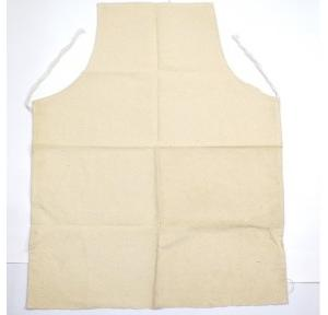 Gripwell White Canvas Cloth Apron, Size: 24 x 36 inch