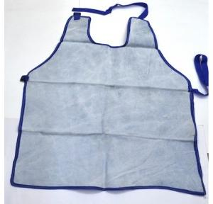 Gripwell White Single Piece Heavy Leather Apron, Size: 24 x 36 inch