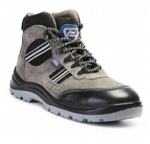 Allen Cooper AC-1157 Black And Grey Steel Toe Safety Shoes, Size: 11