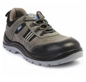 Allen Cooper AC-1156 Black And Grey Steel Toe Safety Shoes, Size: 10