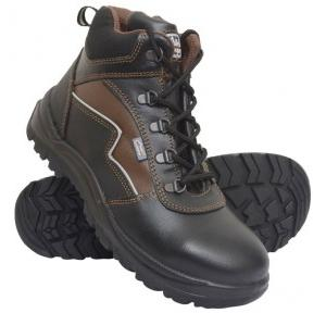 Allen Cooper AC-1170 Black Steel Toe Safety Shoes, Size: 8