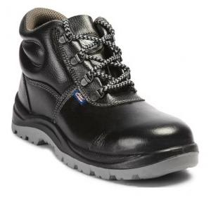 Allen Cooper AC-1008 Black Steel Toe Safety Shoes, Size: 7