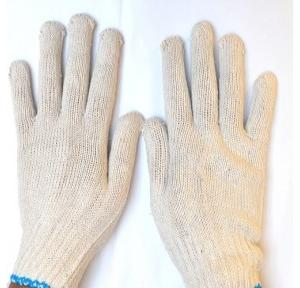 Gripwell GCKG 35 White Cotton Knited Gloves, Length: 9 inch