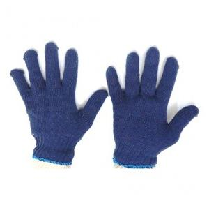 Gripwell GCKG 50 Blue Cotton Knitted Gloves, Length: 9.25 inch