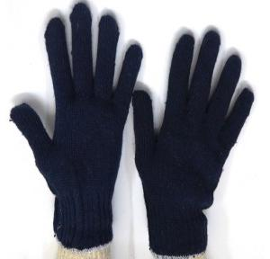 Gripwell GCKG 60 Blue Cotton Knitted Hand Gloves, Length: 9.25 inch
