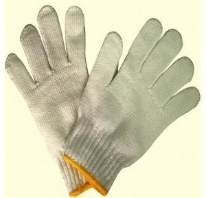Gripwell GCKG 60 White Cotton Knitted Hand Gloves, Length: 9.25 inch
