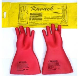 Kavach Electrical Gloves, 33 KV, Length: 355 mm