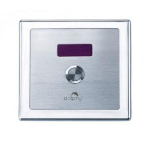 Dolphy Stainless Steel Automatic + Manual Urinal Flusher with Infrared Sensor Technology Silver 3-4 L/min, DAUF0004