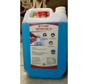 Hand Sanitizer Liquid Hand Rub Alcohol 70%, 5 ltr