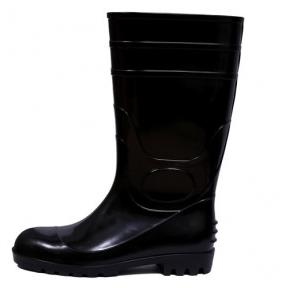 Fortune Jumbo -14 Black Steel Toe Gum Boot, Size: 7
