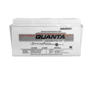 Amaron SMF Battery Quanta 65 AH 12V For 10 KVA x 2 Nos.