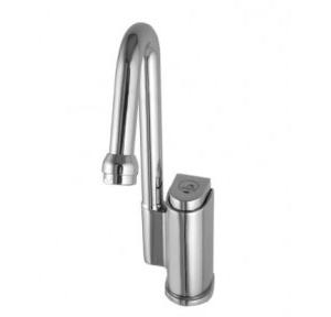 Dolphy Self-Closing Water Saving Time Delay Basin Sink Faucet Chrome Plated+Brass (Inner) Silver DSPT0002