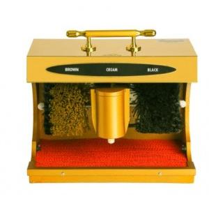 Dolphy Automatic Shoe Shining Machine 304 Wood Stainless Steel 90 W Gold DSPM0010