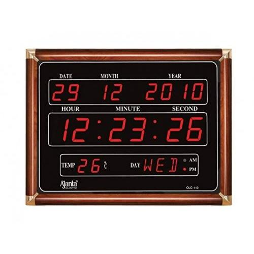 Ajanta Digital Clock -  Size-29.6 cm X 39.6 cm- Model -  OLC 105