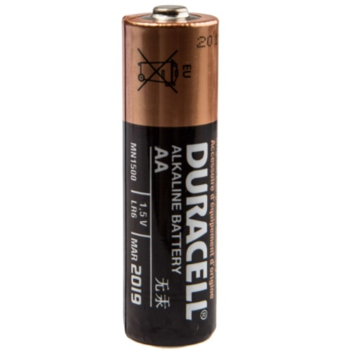 Duracell AA Alkaline Battery, 1.5V, MN1500-LR6