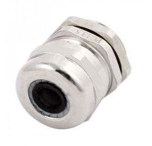 Zetalux PG Metal Cable Gland Brass With Nickel Plated 12-6 mm, Outer Dia: 20.4mm, PG-13.5