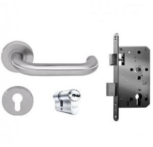Dorma Lever Handle With 6501 Roses, Pure 8100 with 60mm EPC both Side Key Cylinder