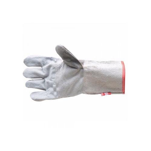 AIQS LI01 White Industrial Leather Gloves