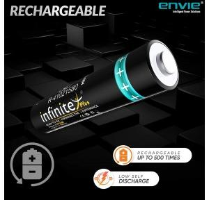 Envie Rechargeble Cell AAA, 1.2V, 1100mAh