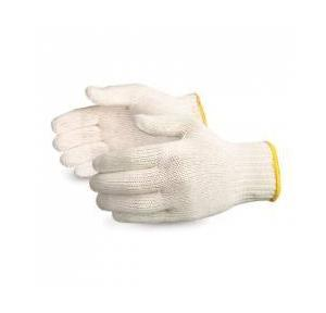 AIQS White Cotton Knitted Gloves, CN01
