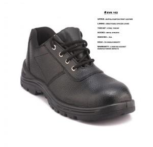 Everest Safety Shoes Steel toe Low Ankle, ISI Approved, Model EVE102 , Size -6