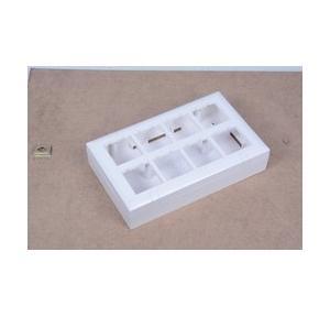 MK Surface Box Wraparound 10M, W26179H with MK Wraparound Plus 10 Module Horizontal Front Plate - White, S26110H