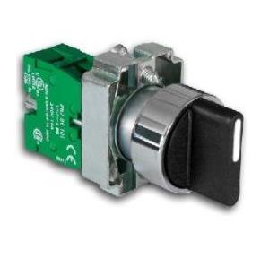Teknik Selector Switch with 1NO & 1NC 2 POS Selector Switch + Contact Block (E2101+E2126)