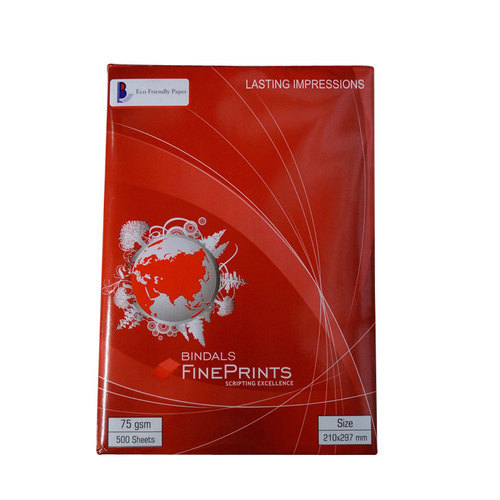 Bindal Fineprints A4 Copier Paper, 75 GSM, 500 Sheets ( Red )