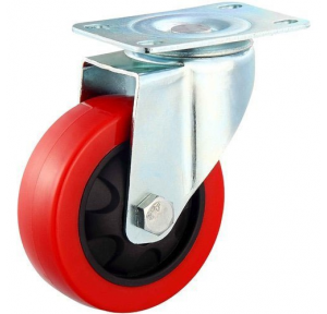 Wheel Nylon Trolley Without Break, 4x2 Inch, 360 Revolving