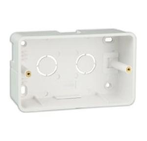 Crabtree 4M Surface Plastic Box, (ACNXMIZX04) With Cover Plate