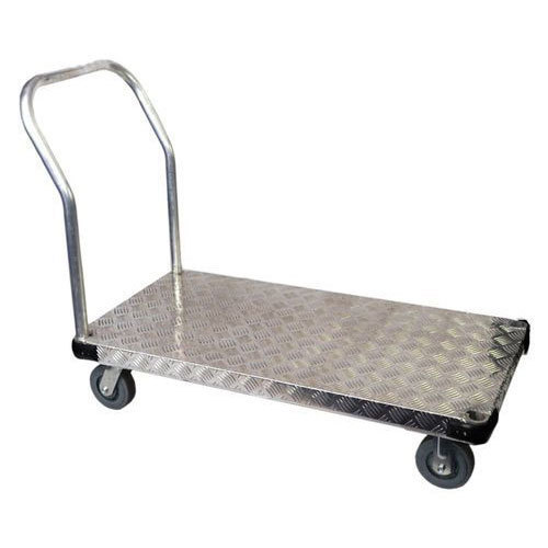 MS Platform Trolley, Foldable Handle, Weight Capicity 500 kg, Size - 4x2 Feet