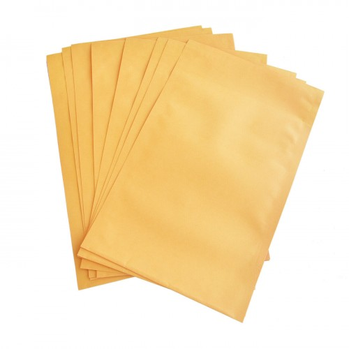 Yellow Envelope Plastic Coated (75 GSM) 10x14 Inch