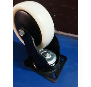 Trolley Revolving Nylon 80kg capacity Wheel, 100x32 mm (Plate Size:- 103x80mm)