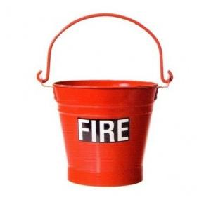 Mild Steel Fire Safety Bucket, Red, 9 kg