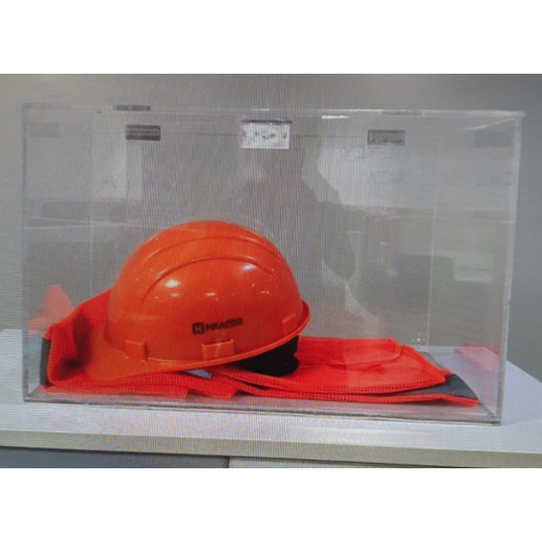 Acrylic Box Thickness 3mm With One Side Door Mechanism, Size : 18 x12 x12 Inch