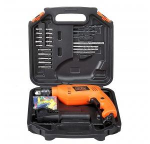 Black+Decker HD555KA50 550W 13mm Variable Speed Reversible Impact Drill Kit with 50 Accessories Kitbox