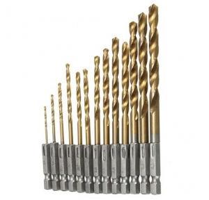 Drill Bit Set For Wood 1.5-6.5 mm (Set of 13 Pcs) and 5 Piece Masonry Drill Bit Set, 2608590090