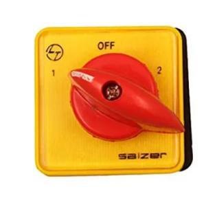 L&T S6-61026-B-13 Fiber Auto Manual Selector Switch (5x5x6 cm, Yellow)