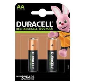 Duracell AA Rechargeable Battery, 1300mAh ( Pack of 2 Pcs )