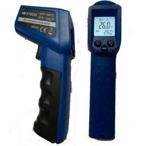 Mextech MT4 Infrared Thermometer, Accuracy - ( +-20C) <1000C,( +-20C) > 1000C, Display Size - 24 X 24 mm