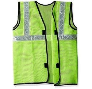 Safety Jacket Cloth Type Green 160 GSM With 2 Inch Reflective Strip
