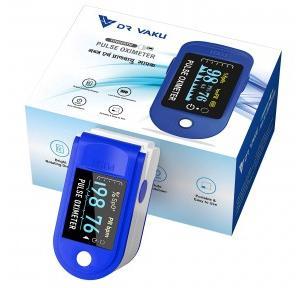 DR VAKU Pulse Oximeter Fingertip, Blood Oxygen Meter Finger Oximeter Finger With Pulse, O2 Monitor