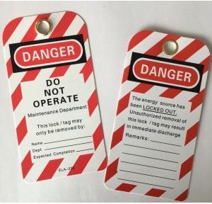 PVC Lockout Safety Tags