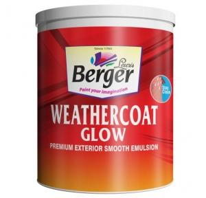 Berger Weather Coat Glow Red Water Based Exterior Wall Paint, 1 Litre