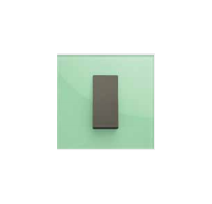 Crabtree Athena 8 M (S) Somber Green Glass Cover Plate, ACNPGONV08